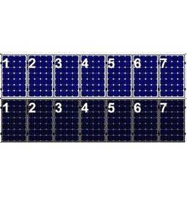 Clickfit Set 1 rij van 7 zonnepanelen portrait golfplaten dak