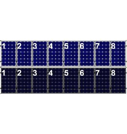 Clickfit Set 1 rij van 8 zonnepanelen portrait golfplaten dak