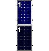 Clickfit Clickfit set 1 rij van 1 zonnepaneel portrait staaldak