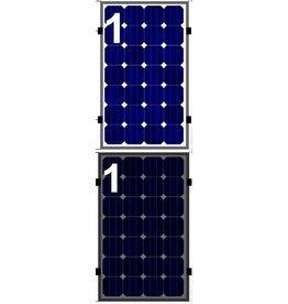 Clickfit Set 1 rij van 1 zonnepaneel portrait staaldak