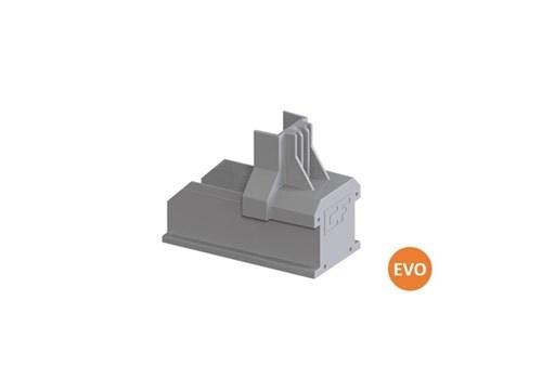 Clickfit Evo 1008060 - ClickFit Evo Montagerail Eindkap grijs