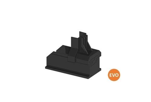 Clickfit Evo 1008060-B - ClickFit Evo Montagerail Eindkap zwart