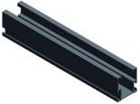Van der Valk solar systems Van der Valk basisprofiel side zwart 2113mm