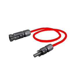 Solarkabels Solar kabel 6 mm rood 1 meter met MC4 connectoren