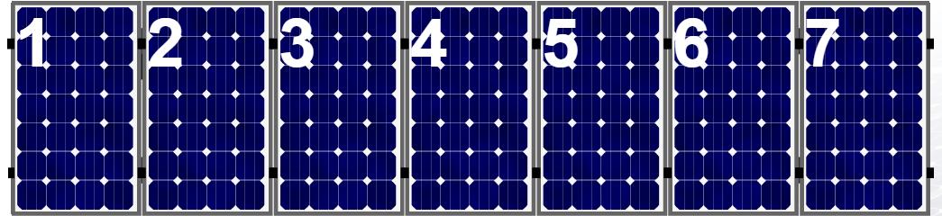 Clickfit EVO set rij van 7 panelen portrait aluminium