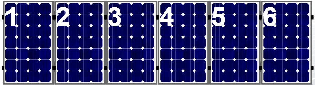 Clickfit EVO set rij van 6 panelen portrait  aluminium