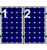 Clickfit EVO set rij van 2 panelen portrait aluminium