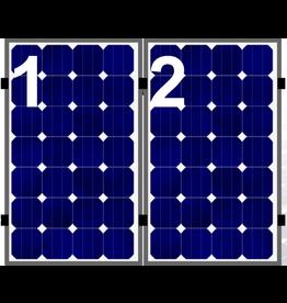 Clickfit Evo sets Clickfit EVO set rij van 2 panelen portrait aluminium