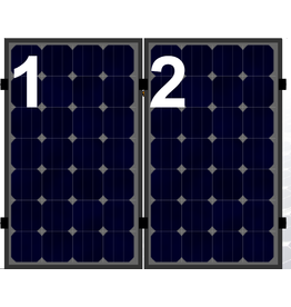 Clickfit EVO set rij van 2 panelen portrait zwart