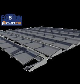 Flatfix Fusion set 1 rij van 4 panelen aluminium