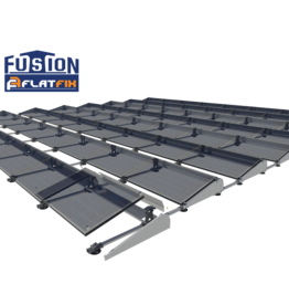 Flatfix Fusion set 1 rij van 5 panelen aluminium