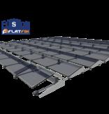 Flatfix Fusion set 2 rijen van 3 panelen aluminium