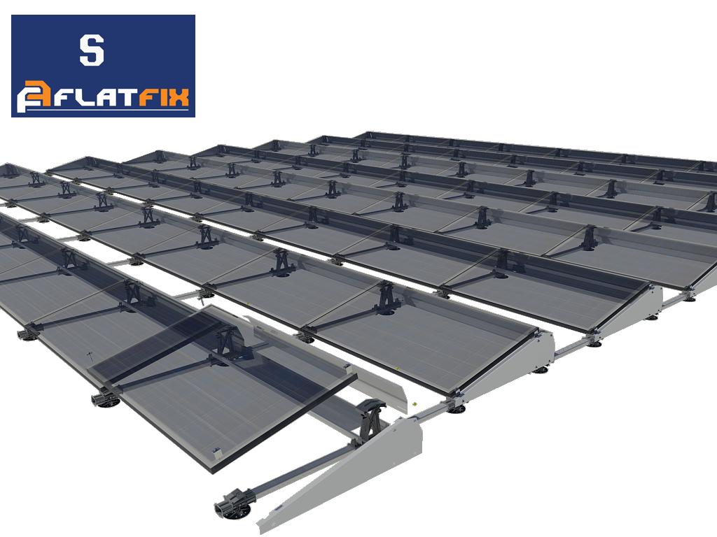Flatfix Fusion set 2 rijen van 4 panelen aluminium