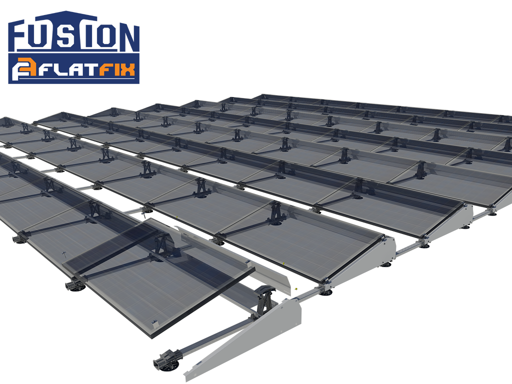 Flatfix Fusion set 4 rijen van 1 paneel aluminium