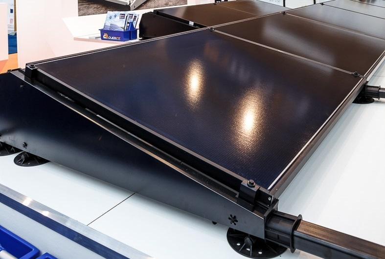 Flatfix Fusion set 1 rij van 4 panelen zwart