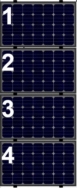 Clickfit Evo sets Clickfit EVO set rij van 4 panelen Landscape zwart