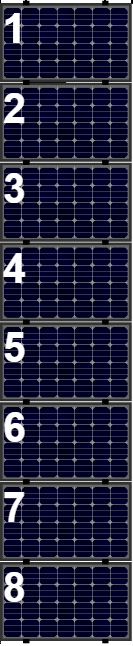 Clickfit Evo sets Clickfit EVO set rij van 8 panelen Landscape zwart