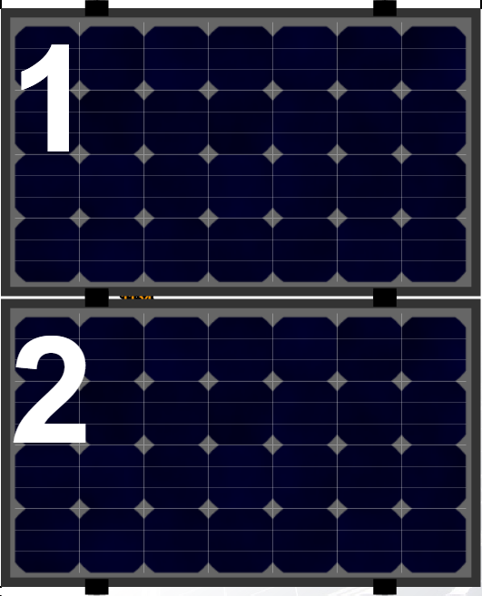 Clickfit Evo sets Clickfit EVO set rij van 2 panelen Landscape zwart