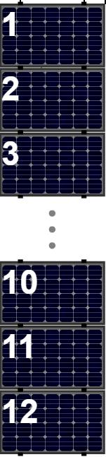 Clickfit Evo sets Clickfit EVO set rij van 12 panelen Landscape zwart