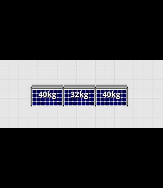 Flatfix Fusion sets Flatfix Fusion set 1 rij van 3 panelen aluminium