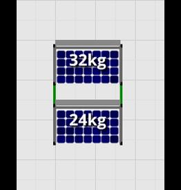 Flatfix Fusion sets Flatfix Fusion set 2 rijen van 1 paneel aluminium