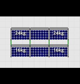 Flatfix Fusion sets Flatfix Fusion set 2 rijen van 3 panelen aluminium