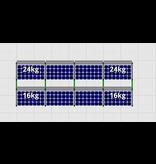 Flatfix Fusion sets Flatfix Fusion set 2 rijen van 4 panelen aluminium