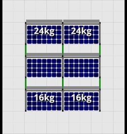 Flatfix Fusion sets Flatfix Fusion set 3 rijen van 2 panelen aluminium