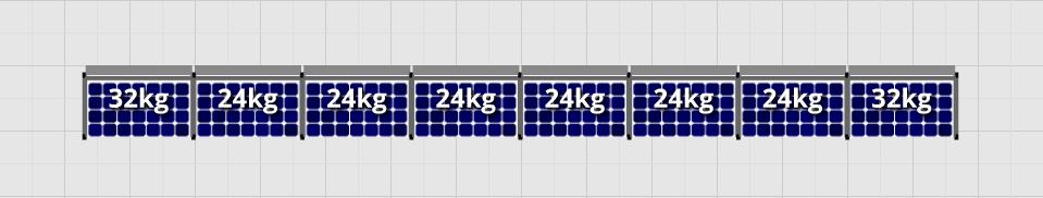Flatfix Fusion sets Flatfix Fusion set 1 rij van 8 panelen aluminium