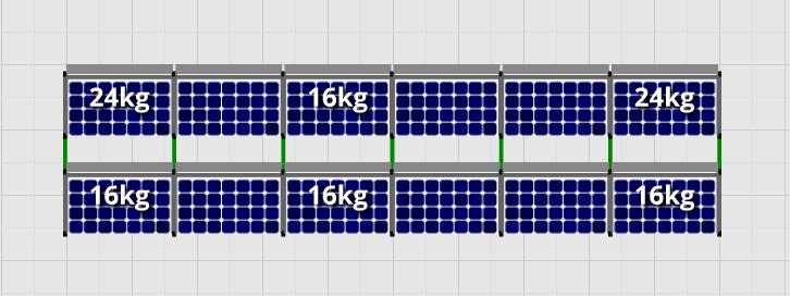 Flatfix Fusion sets Flatfix Fusion set 2 rijen van 6 panelen aluminium