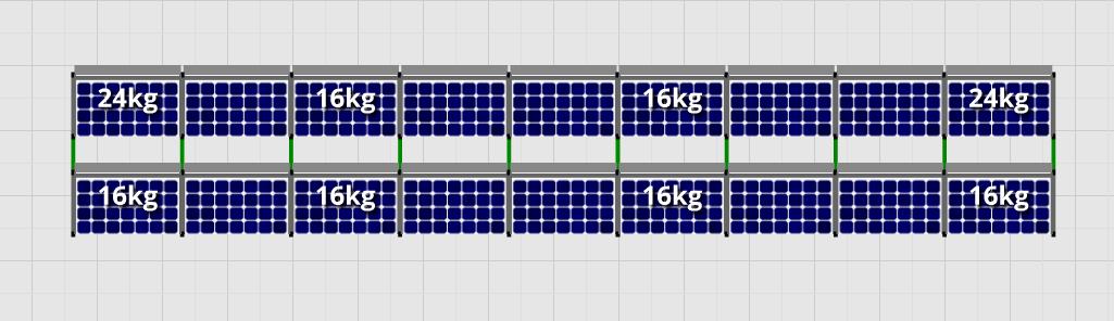 Flatfix Fusion sets Flatfix Fusion set 2 rijen van 9 panelen aluminium