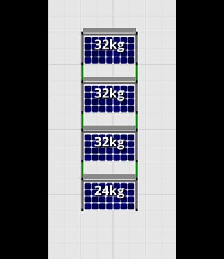 Flatfix Fusion sets Flatfix Fusion set 4 rijen van 1 paneel aluminium