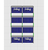 Flatfix Fusion sets Flatfix Fusion set 4 rijen van 2 panelen aluminium