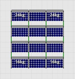 Flatfix Fusion sets Flatfix Fusion set 4 rijen van 3 panelen aluminium