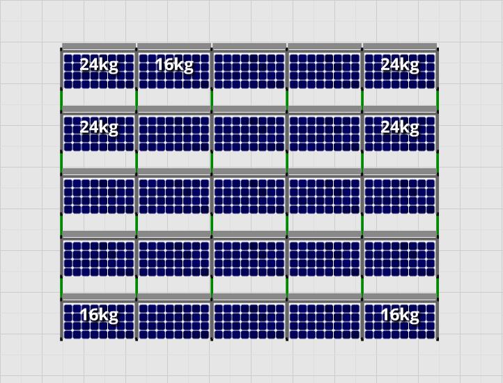 Flatfix Fusion sets Flatfix Fusion set 5 rijen van 5 panelen aluminium