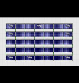 Flatfix Fusion sets Flatfix Fusion set 5 rijen van 7 panelen aluminium