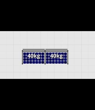 Flatfix Fusion sets Flatfix Fusion set 1 rij van 2 panelen zwart