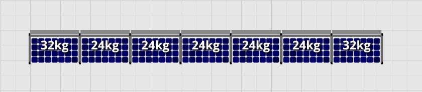 Flatfix Fusion sets Flatfix Fusion set 1 rij van 7 panelen zwart