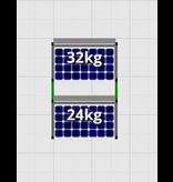 Flatfix Fusion sets Flatfix Fusion set 2 rijen van 1 paneel zwart