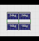 Flatfix Fusion sets Flatfix Fusion set 2 rijen van 2 panelen zwart