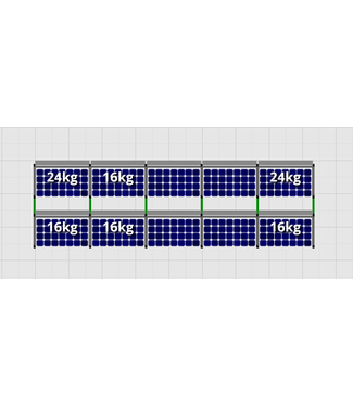 Flatfix Fusion sets Flatfix Fusion set 2 rijen van 5 panelen zwart
