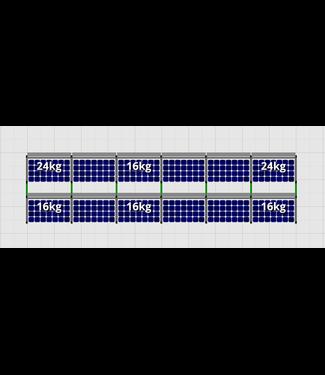 Flatfix Fusion sets Flatfix Fusion set 2 rijen van 6 panelen zwart