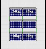 Flatfix Fusion sets Flatfix Fusion set 3 rijen van 2 panelen zwart