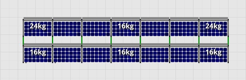 Flatfix Fusion sets Flatfix Fusion set 2 rijen van 7 panelen zwart