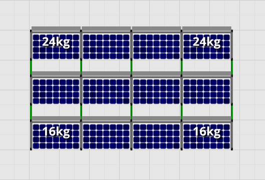 Flatfix Fusion sets Flatfix Fusion set 3 rijen van 4 panelen zwart