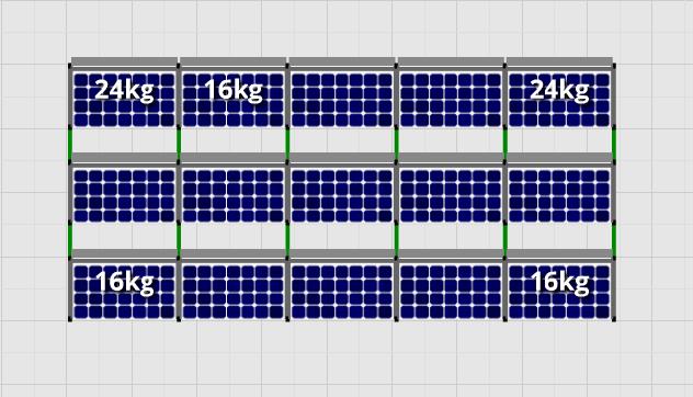 Flatfix Fusion sets Flatfix Fusion set 3 rijen van 5 panelen zwart