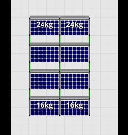 Flatfix Fusion sets Flatfix Fusion set 4 rijen van 2 panelen zwart