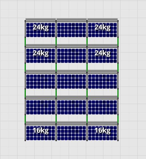 Flatfix Fusion sets Flatfix Fusion set 5 rijen van 3 panelen zwart