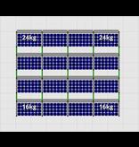Flatfix Fusion sets Flatfix Fusion set 4 rijen van 4 panelen zwart