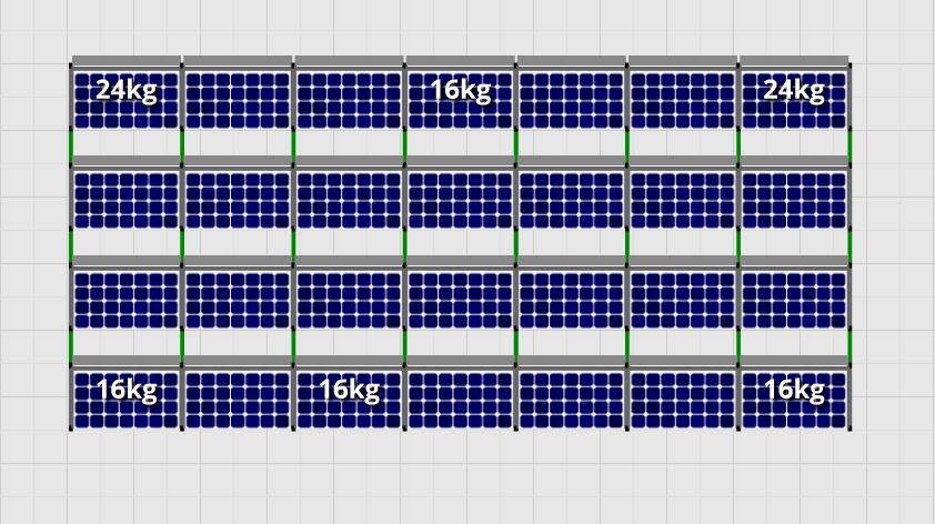 Flatfix Fusion sets Flatfix Fusion set 4 rijen van 7 panelen zwart